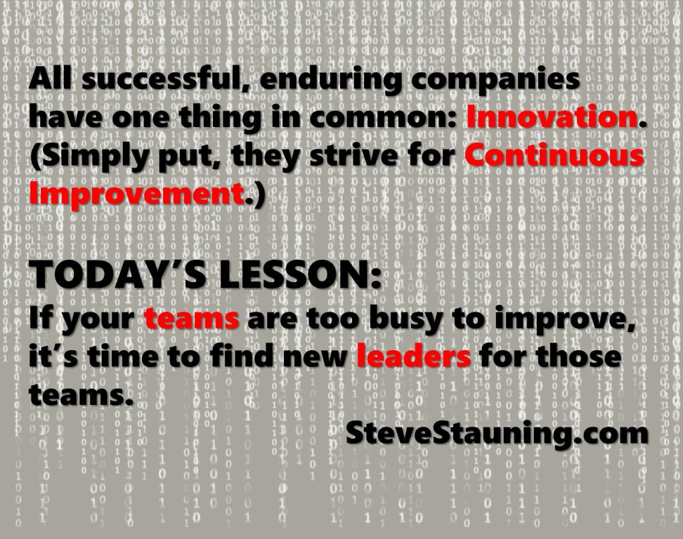 Innovating or Obsolescing